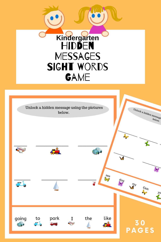 Sight Word Printable Activity Sight Words Hidden Messages Words [ 1500 x 1000 Pixel ]