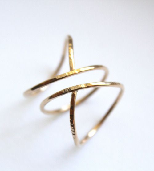 "pure-and-honest: "" Hammered Siren Ring Mythical maiden wear """