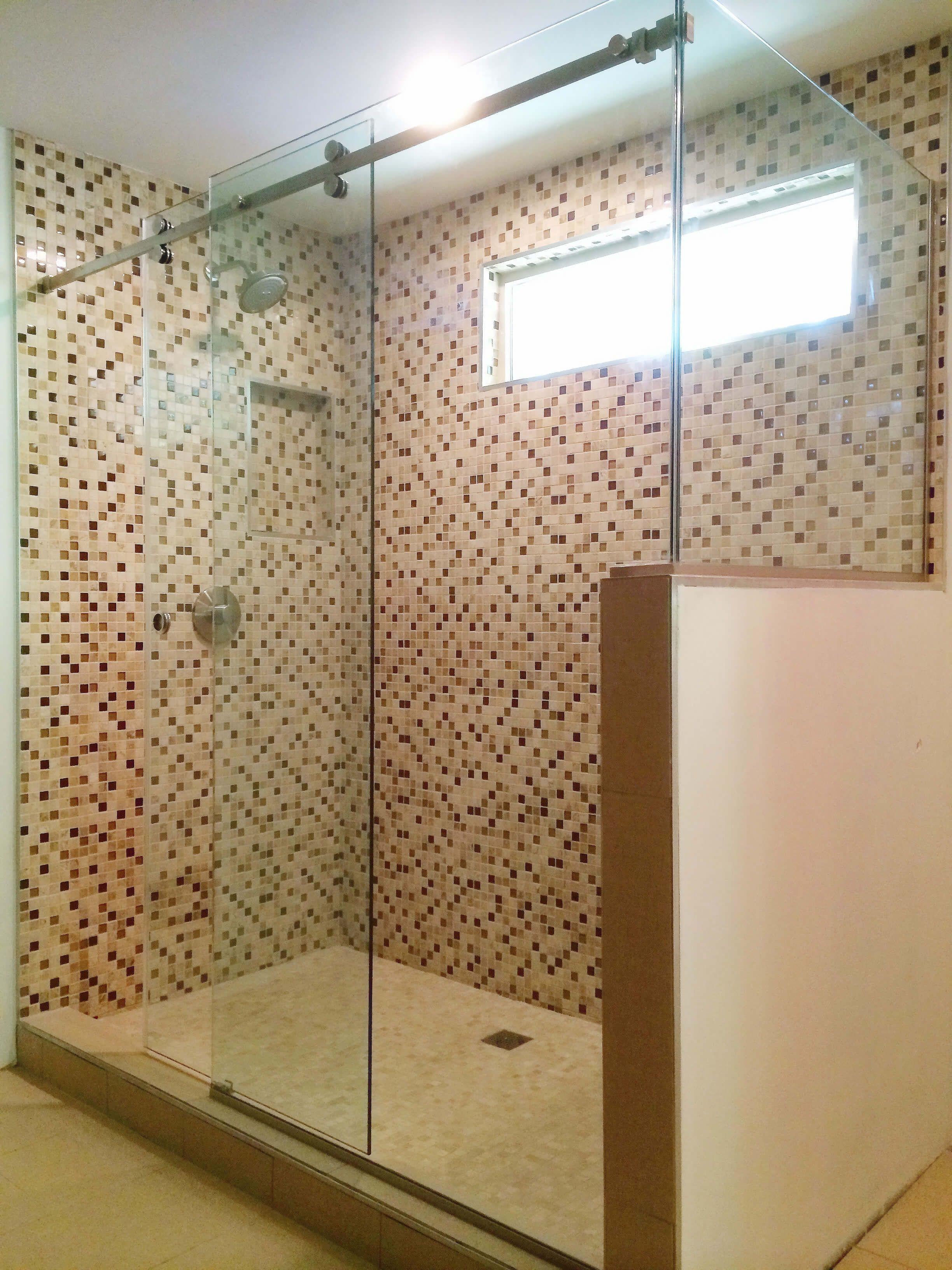Stand Up Shower Sliding Doors.Frameless Shower Glass Door Enclosure For Standup Shower