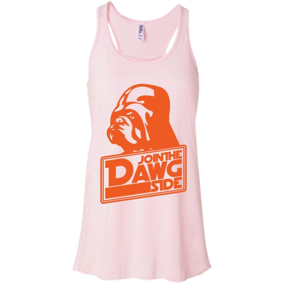 Cleveland Join the Dawg Side Funny T-Shirt1-01 Bella + Canvas Flowy Racerback Tank