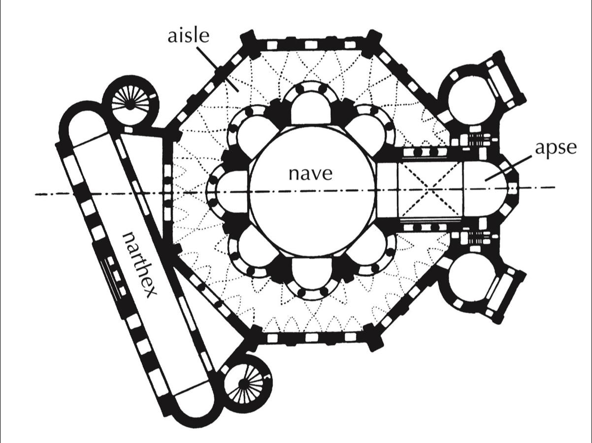 San Vitale Ravenna Floor Plan Hagia Sophia Floor Plan Byzantine Architecture Renaissance Architecture Ravenna