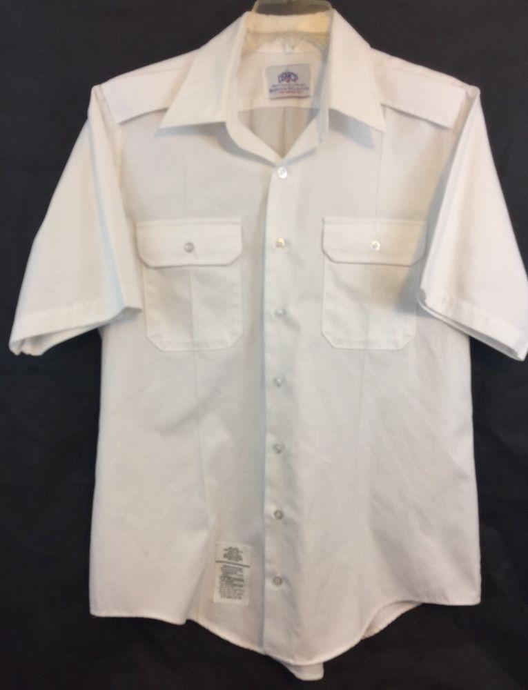 White Uniform Shirt Women/'s Military Blouse Shoulder Epaulettes Short Sleeve Shirt Cotton blend Summer Shirt Uniform Blouse Size Large