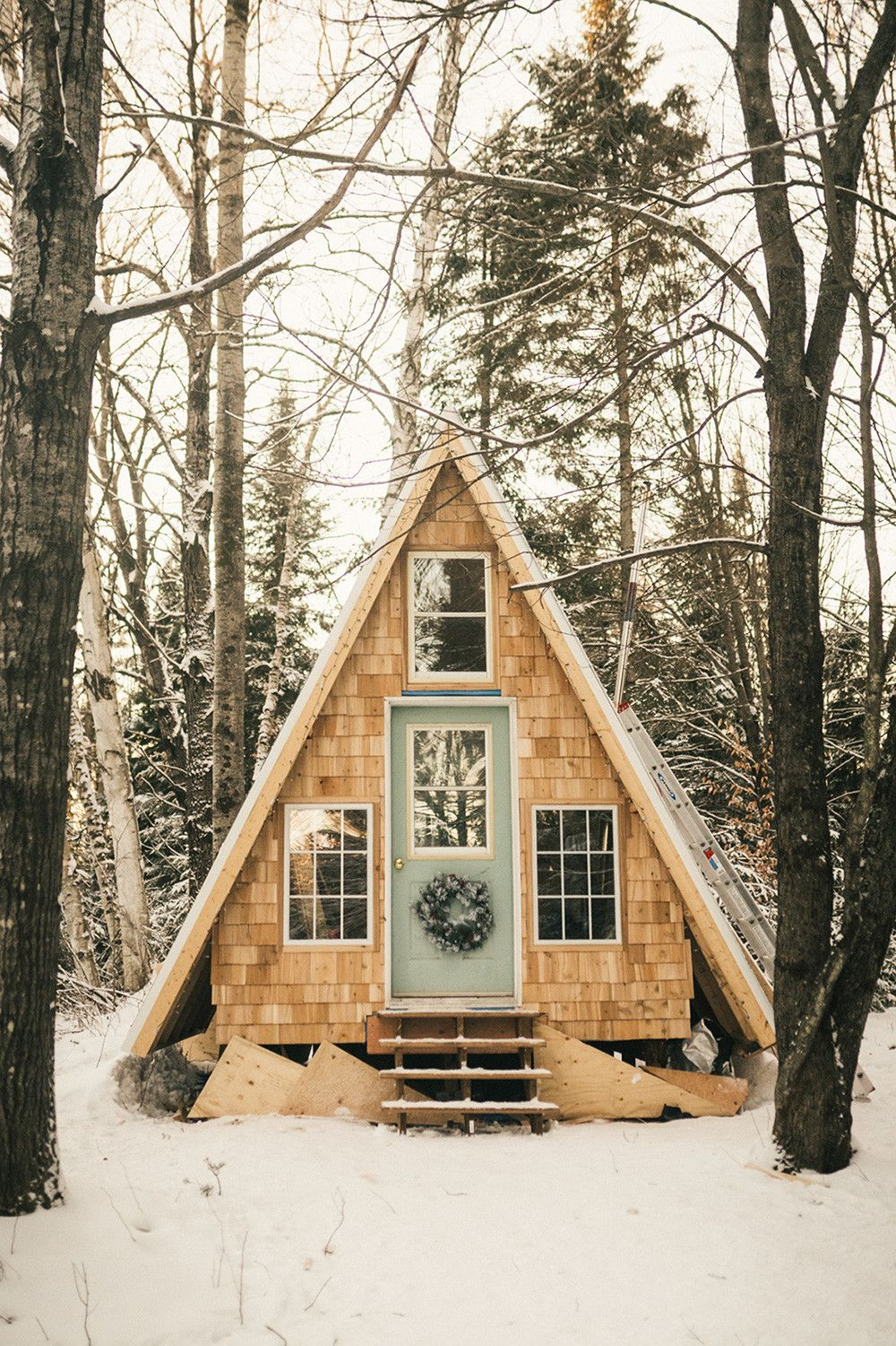 All You Need to Know to Build an A-Frame Cabin for $8k