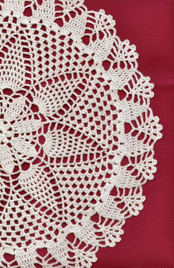 Handmade Crochet doily, lace doily, table decoration, crocheted place mat, doily tablecloth, table runner, napkin, white