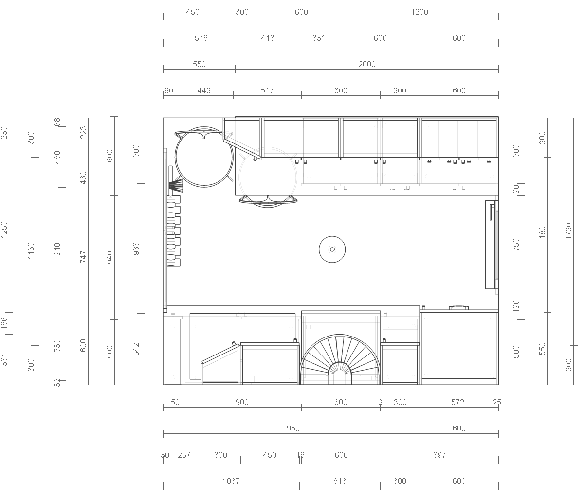 Kitchen Layouts With Dimensions Kitchen Layout And Decorating