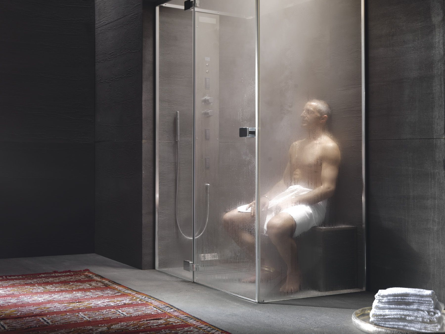 Steam room shower combo wet rooms bolton designer wet for Shower room images