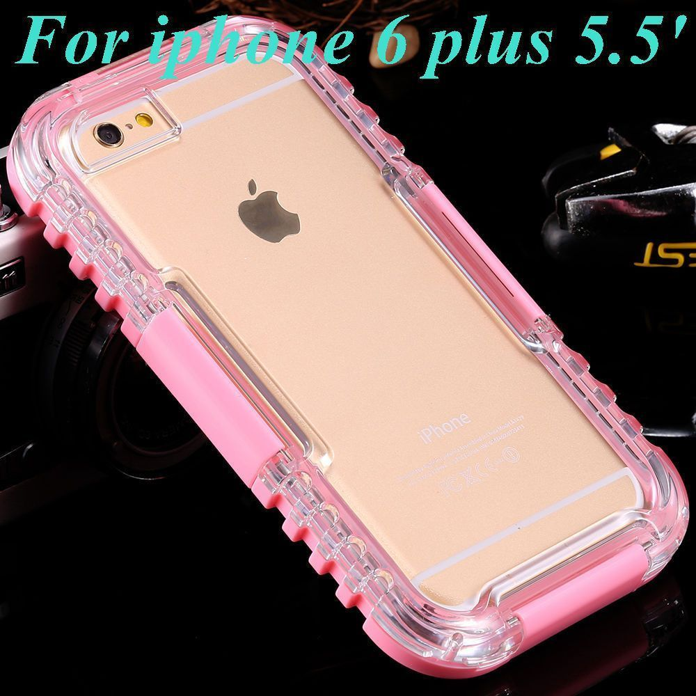 wholesale dealer 06323 f6d66 Waterproof Transparent Crystal Clear Case For iphone 6 Plus in 2019 ...