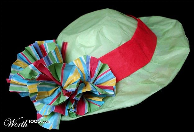 Paper Mache Hat Made Over A Kitchen Bowl