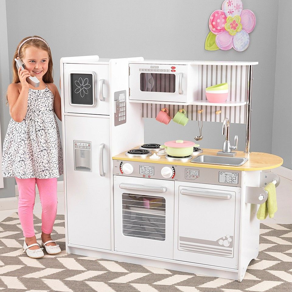 White Uptown Expresso Play Kitchen Set | Kid\'s presents | Pinterest ...