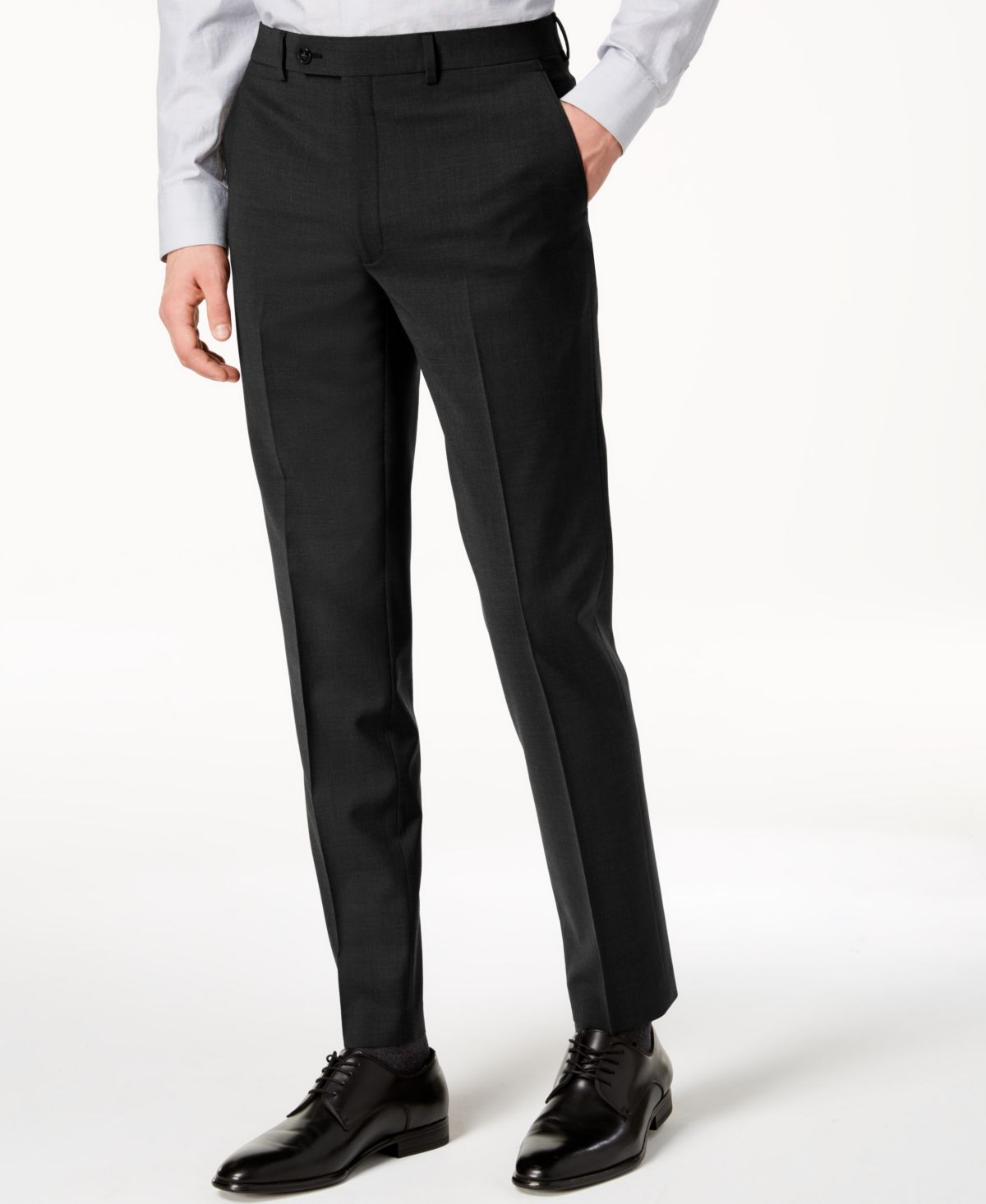 Calvin Klein Men S Skinny Fit Extra Slim Infinite Stretch Suit Pants Reviews Pants Men Macy S Slim Fit Dress Pants Pantsuit Calvin Klein Men [ 1466 x 1200 Pixel ]
