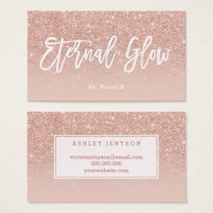 Logo elegant typography blush rose gold glitter business card glitter logo elegant typography blush rose gold glitter business card colourmoves