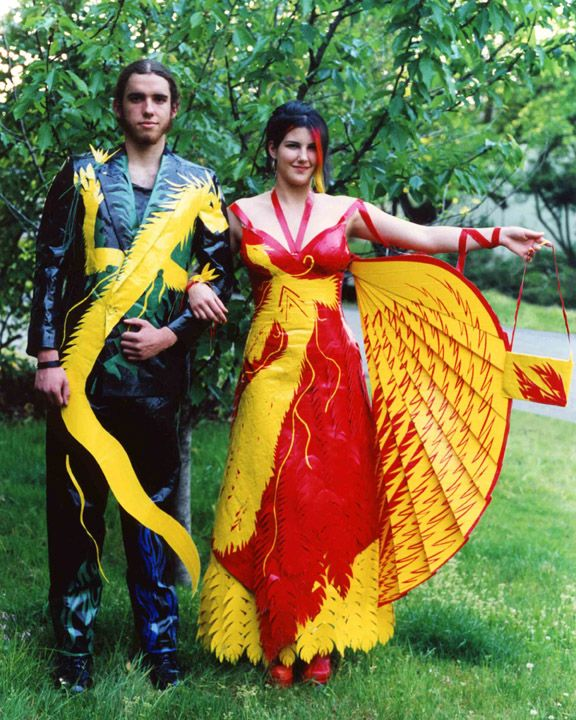 duct tape prom dresses | Lauren Anderson\'s duct tape prom dress ...