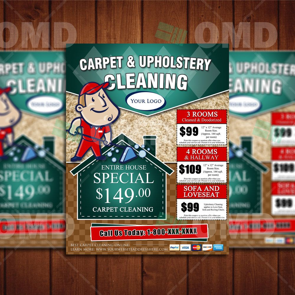 Custom Carpet Cleaning 8.5 x 11 Flyer Design - Done in 4hrs ...