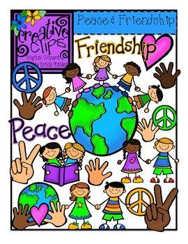 peace and friendship creative clips digital clipart king jr rh pinterest co uk  free digital clipart for teachers