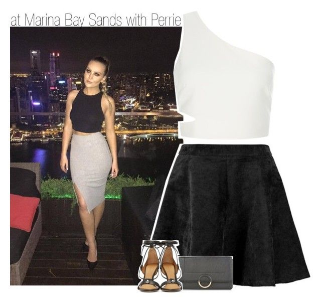 """""""at Marina Bay Sands with Perrie"""" by liamismybabe ❤ liked on Polyvore featuring Elizabeth and James, Boohoo, New Look, Isabel Marant, littlemix and perrieedwards"""