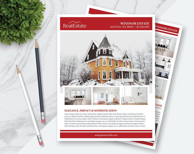 Real Estate Flyer Template 10 Photos Double Sided Pages - powerpoint flyer template