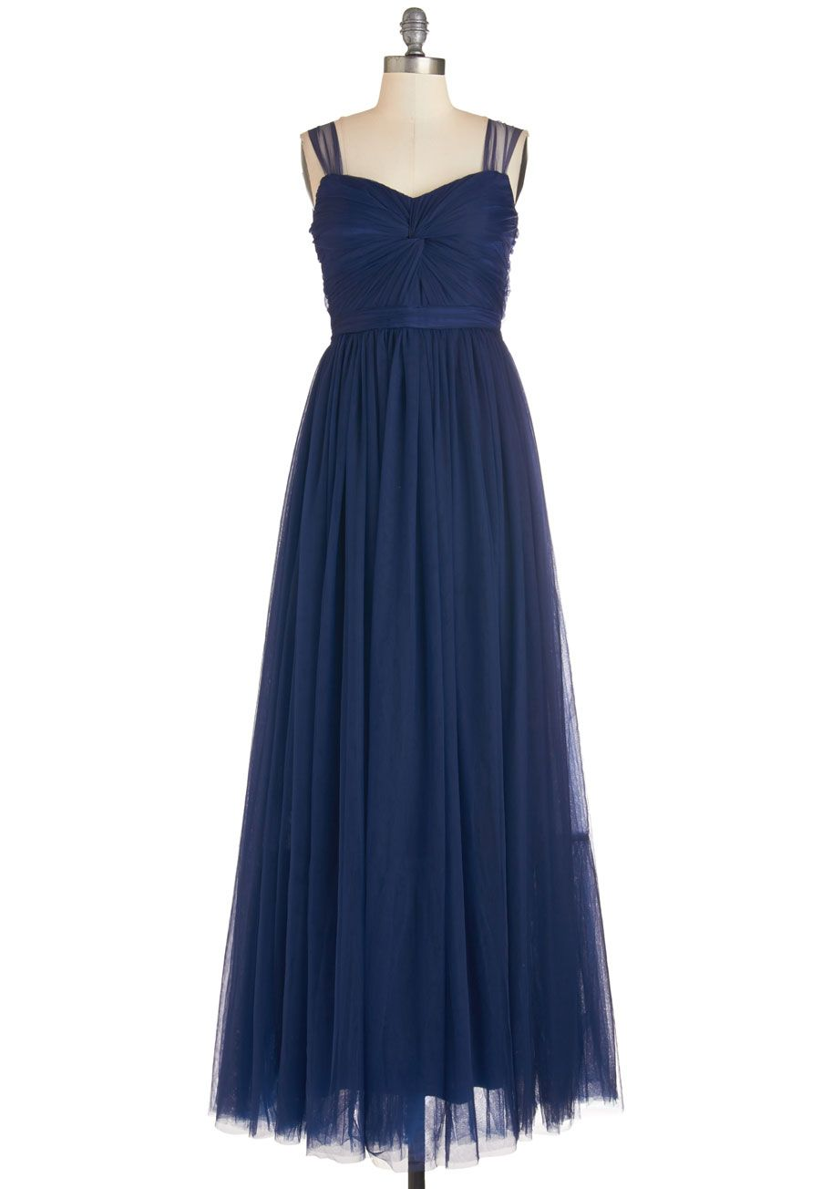 Endless Enchantment Dress. The ballroom is sparkling and youve got quite a glow yourself as you smile and sway in this navy gown! #blue #prom #wedding #bridesmaid #modcloth