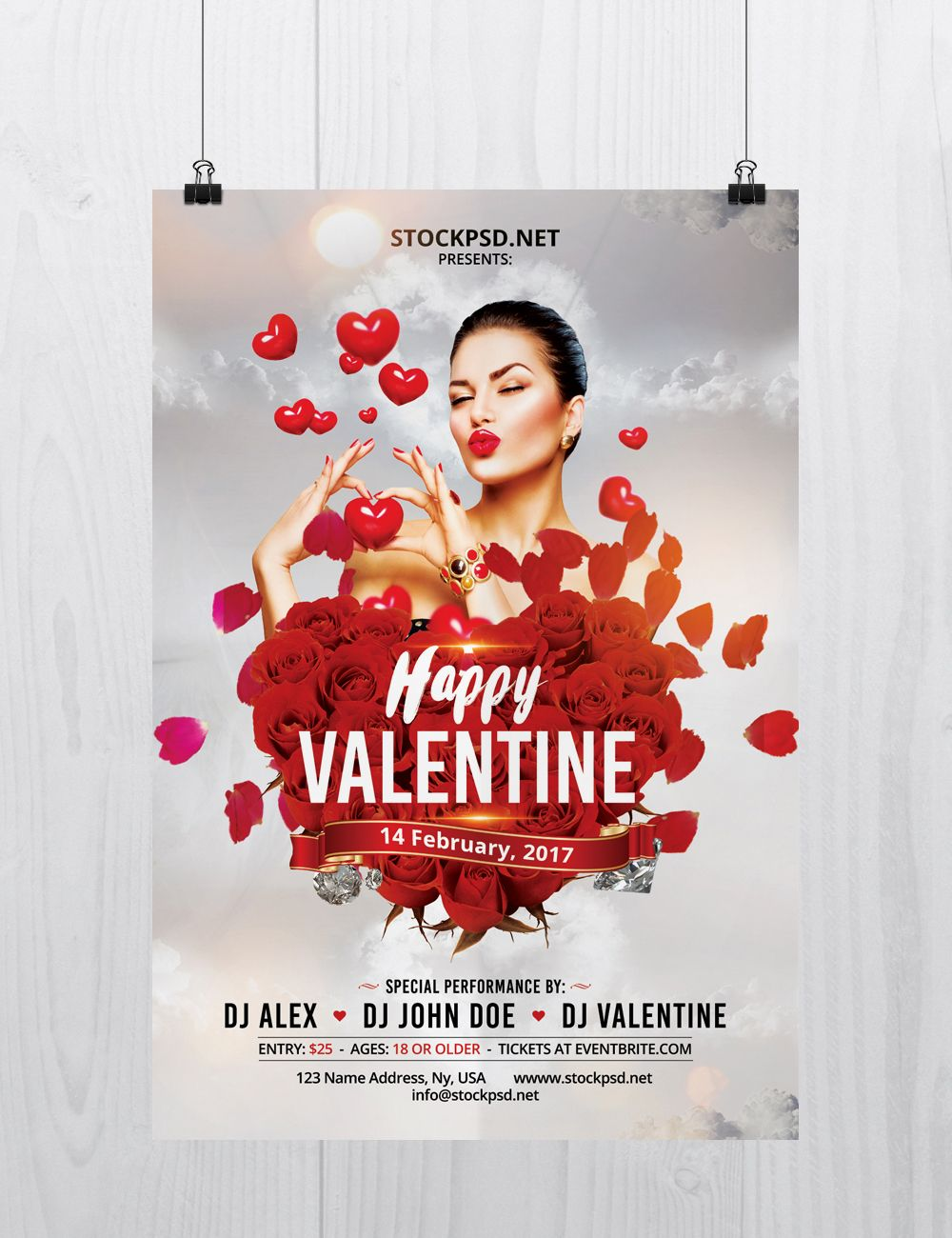 Happy Valentines Day Flyer Is A Free Psd Flyer Template To Download This Flyer Will Be Perfect For Free Psd Flyer Templates Free Psd Flyer Psd Flyer Templates