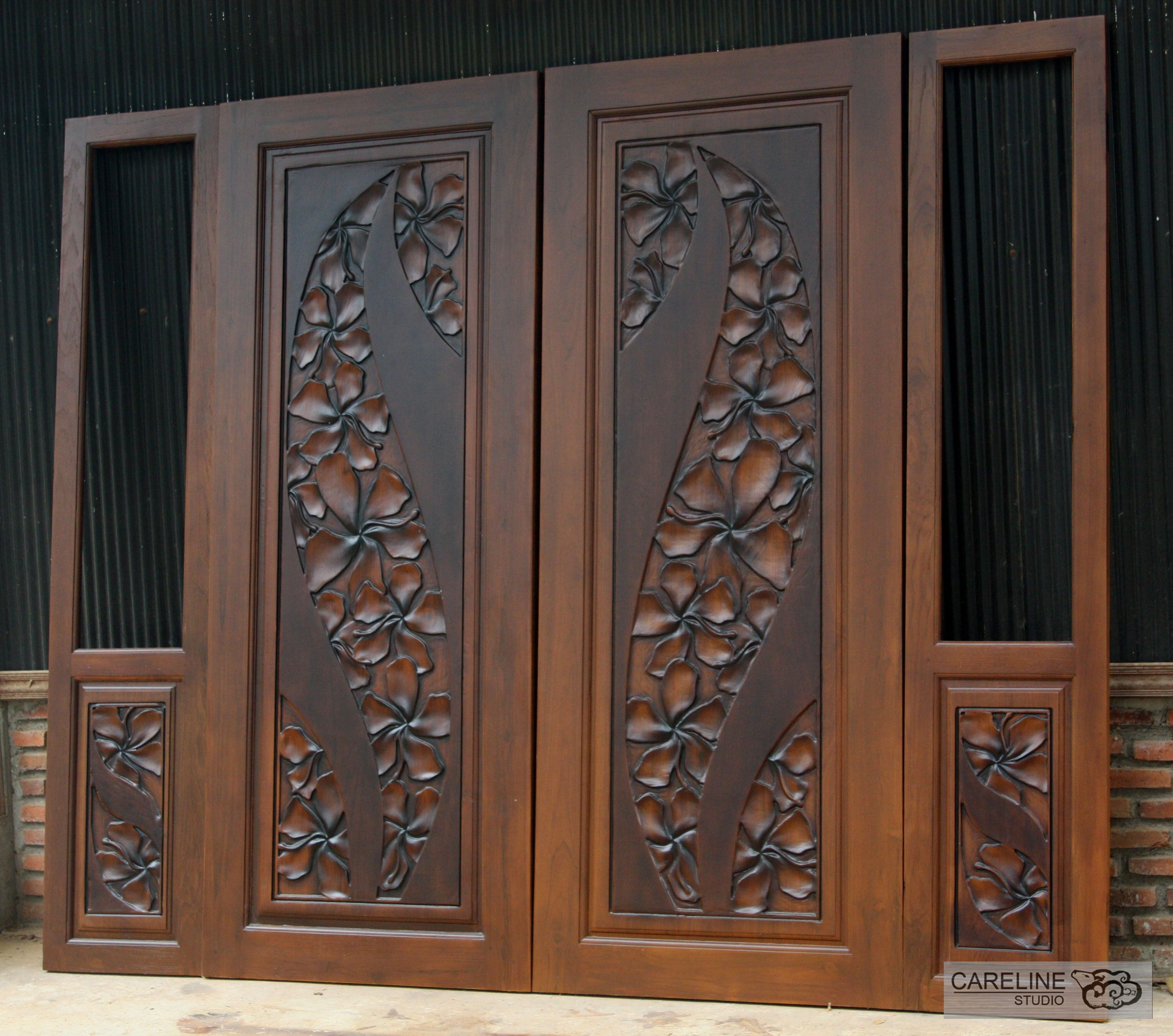 Our Teak Wooden Doors Are Designed And Manufactured By A Team Of Designers From Careline Studio With Ove Double Door Design Door Design Wood Wooden Door Design