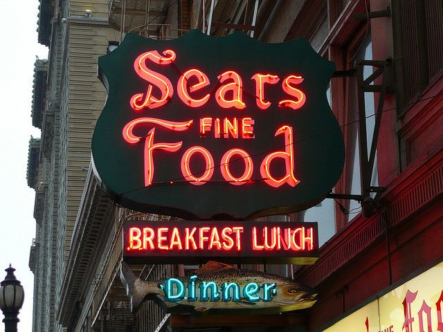 San Francisco, CA Sears Fine Food - Known for their Swedish Pancakes which were fantastic