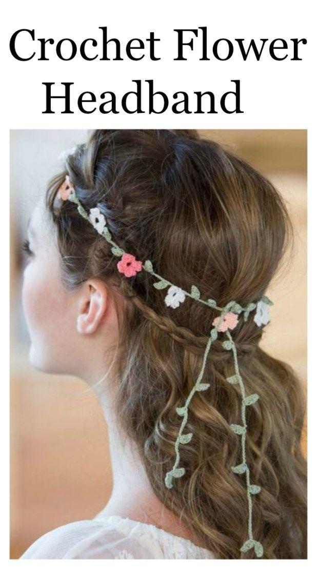 Crochet Flower Headband - Simple And Free Written Pattern ...