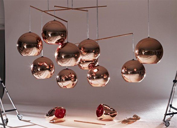 Tom Dixon S Copper Shade Lamp Koper Tom Dixon Copper Copper Lighting Copper Pendant Lights
