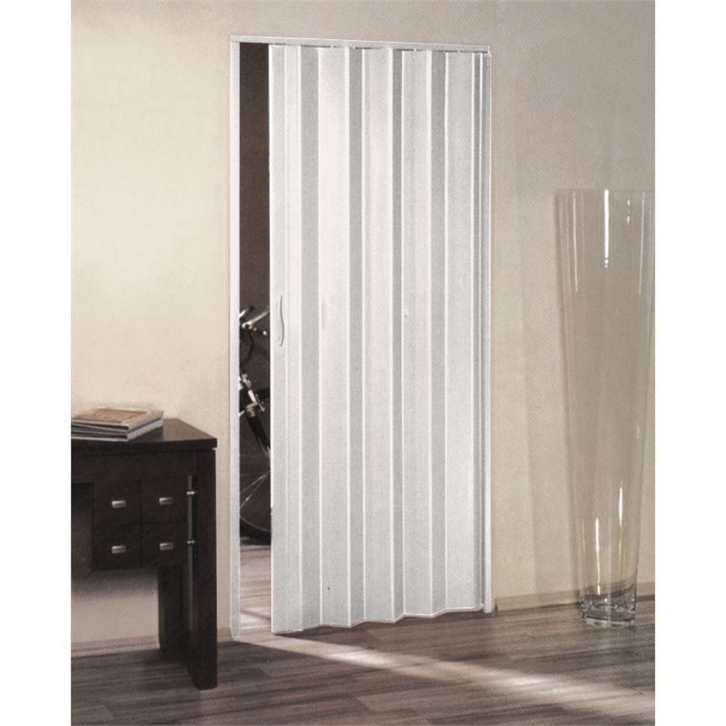 Accordion Bathroom Doors door folding euro 2040x930 pvc white fd0383 - bunnings warehouse