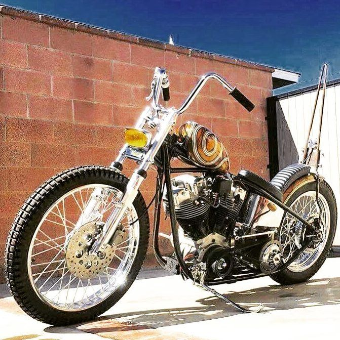 "Custom Harley-Davidson ""Shovelhead"" rigid chopper 