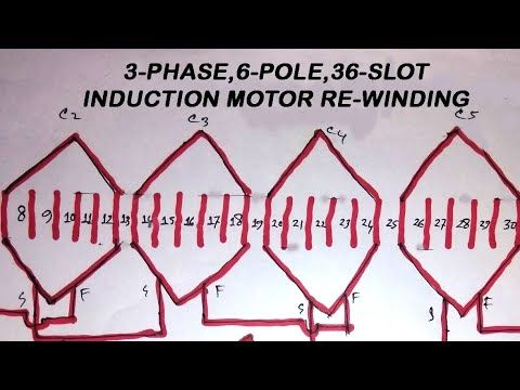 36 slots 3 phase 6 pole induction motor rewinding diagram_full_hd