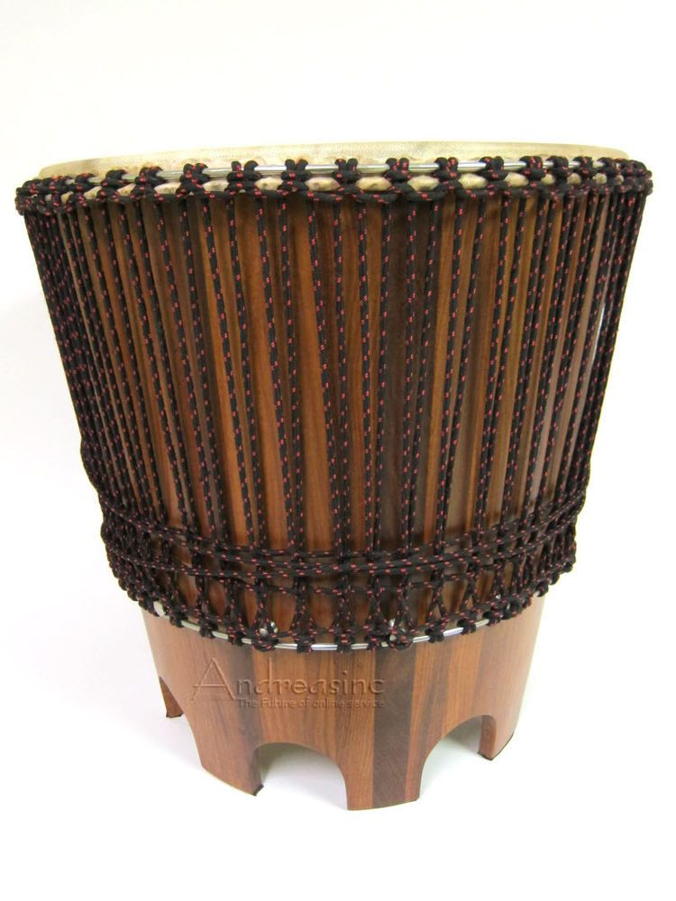 New high quality african style drum table furniture wood side end