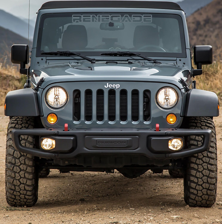 Renegade Jeep Decal Jeep Renegade Jeep Decals Jeep Wrangler Bumpers