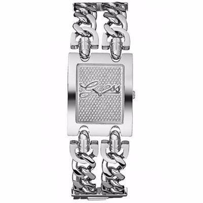62f9492bd473a relógio guess w80048l1 prata 2 correntes quadrado   á venda ...