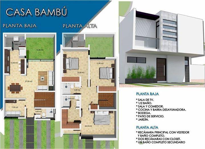 Pin de raul calizaya ramirez en casas de 5 metros de for Planos de casas pequenas de dos plantas