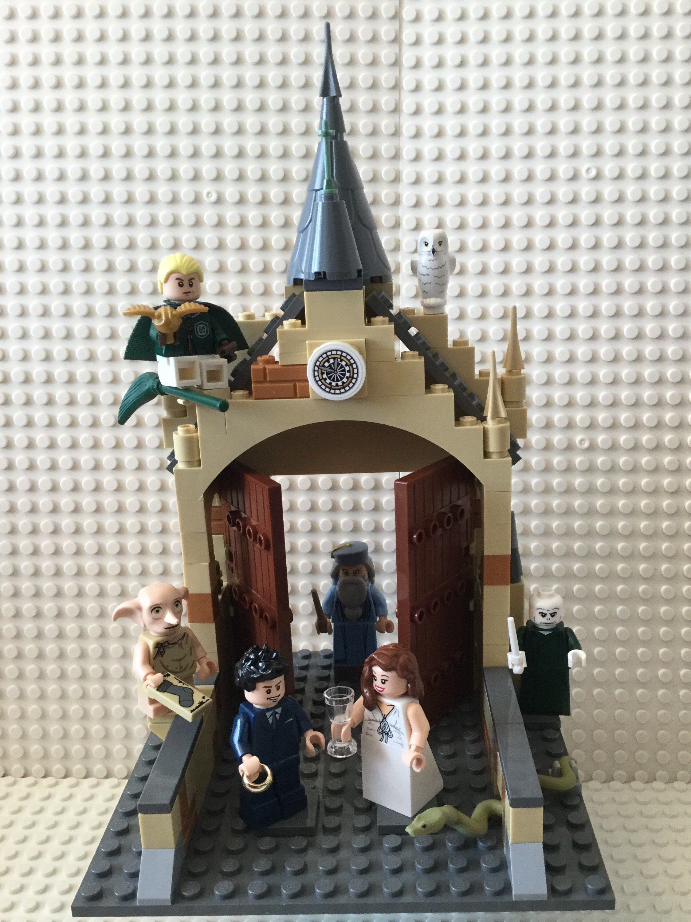Excited To Share This New Item In My Etsyshop Harrypotter Hogwarts Themed Wedding Caketopper B Lego Wedding Cakes Harry Potter Wedding Theme Lego Wedding