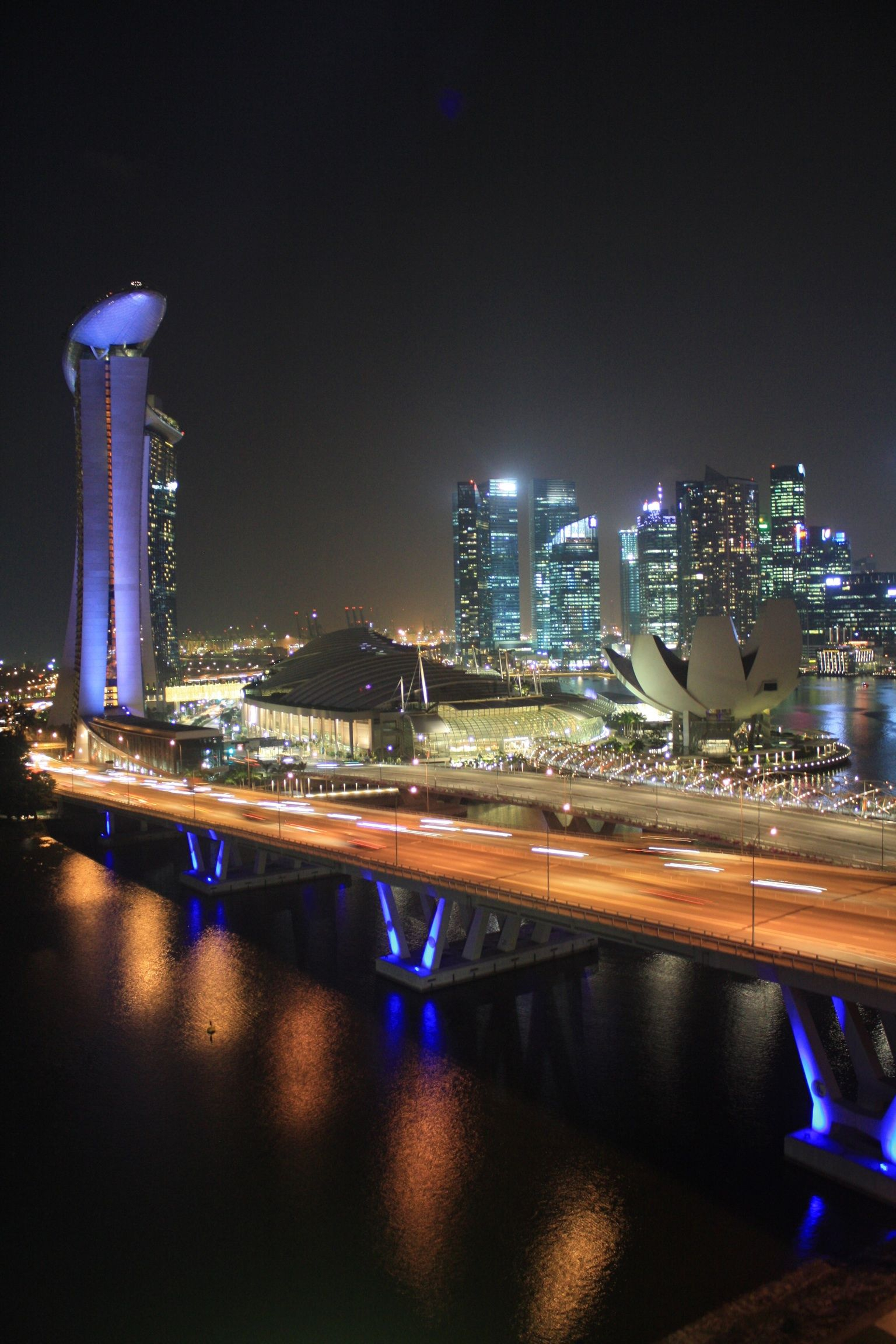 Singapore by night.