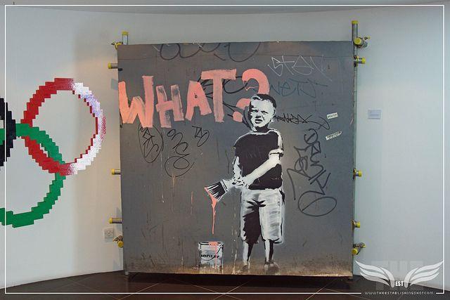 The Establishing Shot: BANKSY WHAT? KID @ FREUD COMMUNICATIONS, LONDON by Craig Grobler, via Flickr