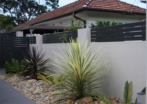 exterior boundary wall designs google search fences pinterest