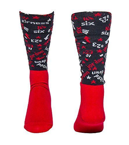 AIR JORDAN 6 LOW SOCKS BLACK/RED/GREY SIZE XL/12-15 - http://airjordankicksretro.com/air-jordan-6-low-socks-blackredgrey-size-xl12-15-2/