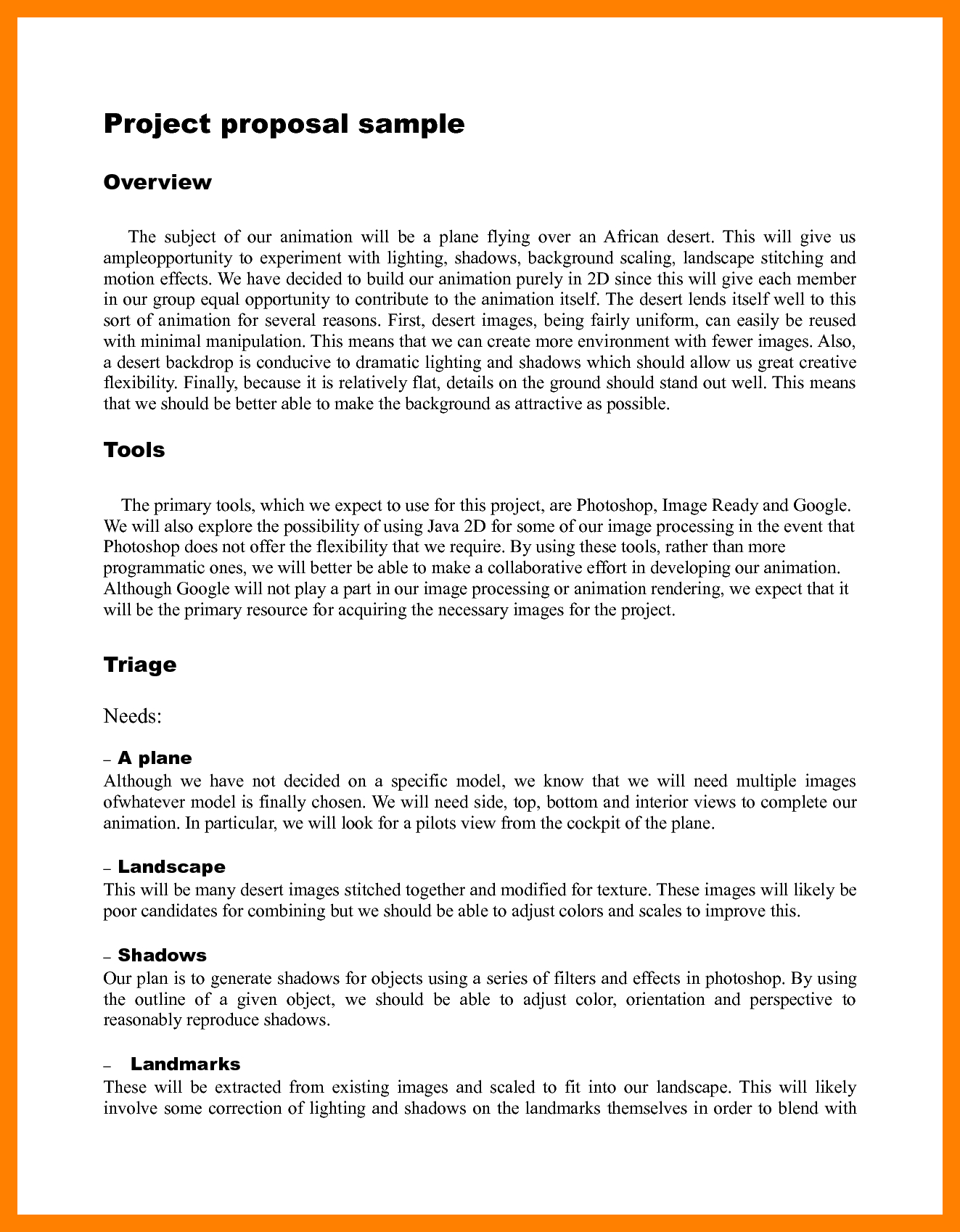 simple project proposal example template sample resume project