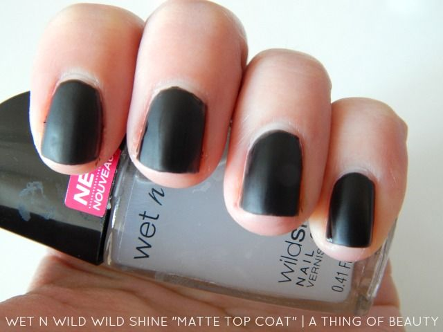 Wet N Wild Spring 2015 Nail Polishes Matte Top Coat Review