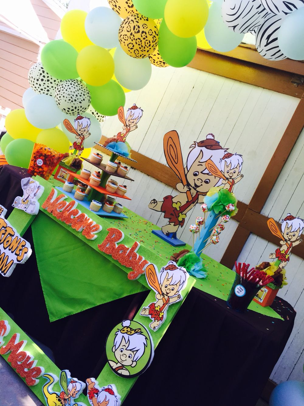 Bam Bam Decorations For Sale 8 Center Pieces Cup Cake