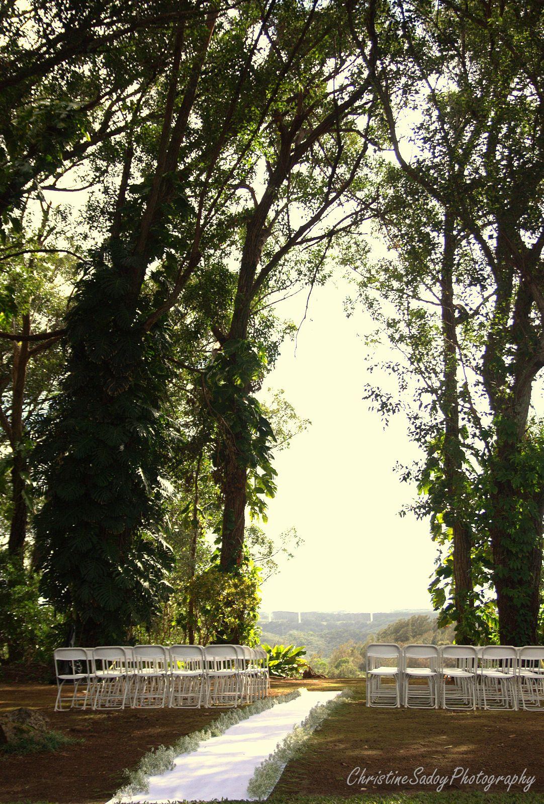 Beautiful ceremony setup in Fern's Garden, Sunset Ranch ...