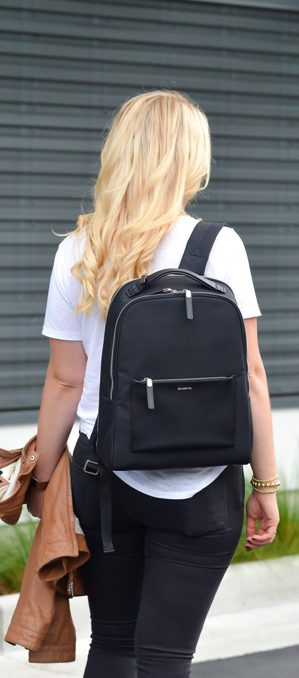 0d088b511a46 Best Travel Work Bags for Stylish Women. Chic Work Laptop Backpack -  Samsonite Zalia Backpack Review