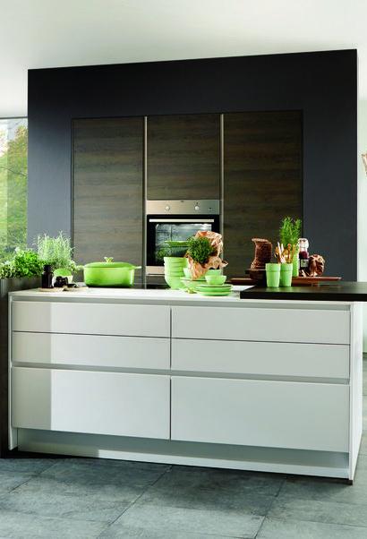 Kräuterbeet Küche küche kräuterküche designküche in weiß und gladstone oak keep it