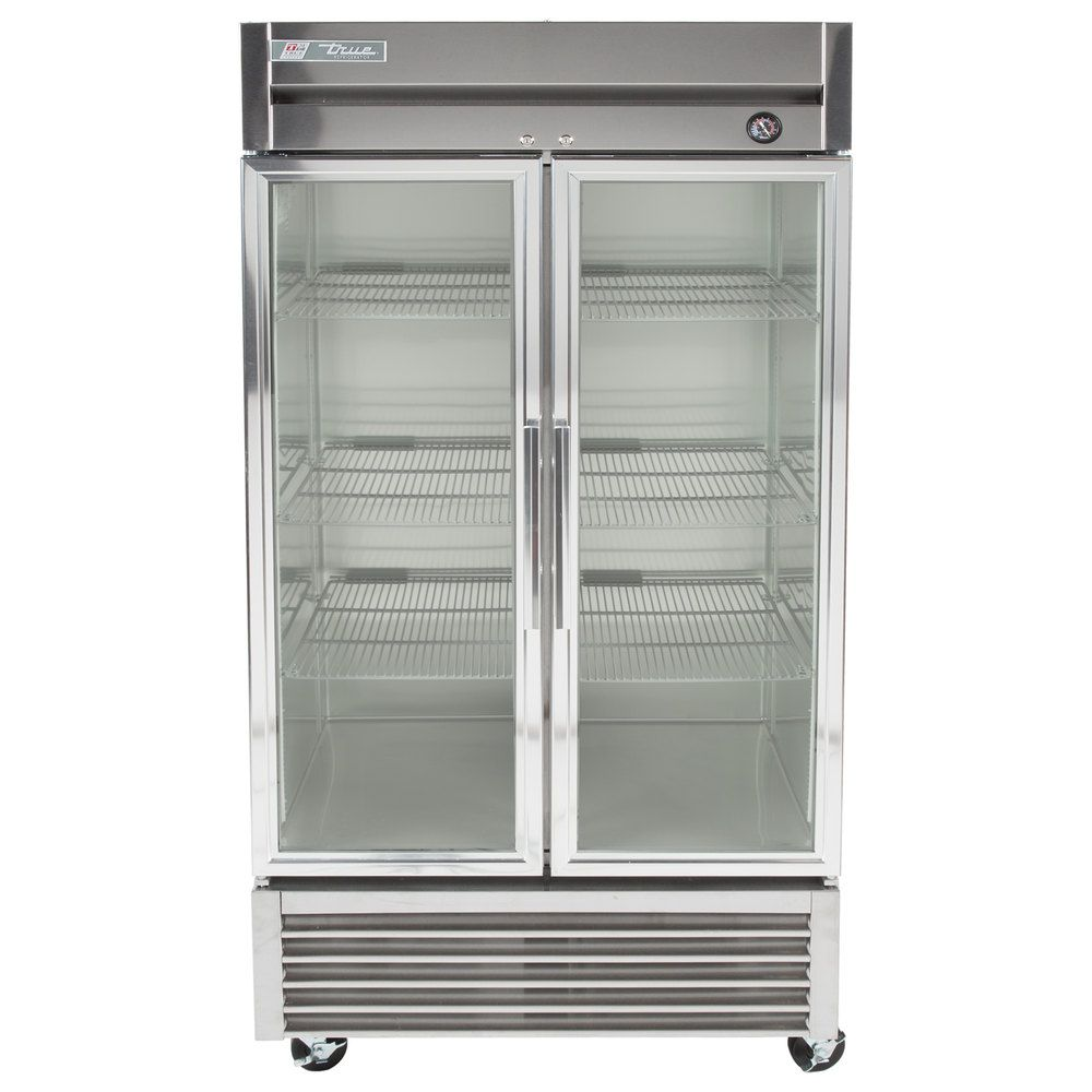 True T 35g Ld 40 Two Glass Door Reach In Refrigerator With Led