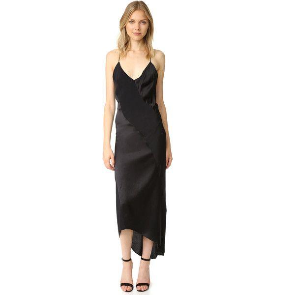 c24456f5df447 MLM LABEL Lennox Slip Dress ($285) ❤ liked on Polyvore featuring dresses