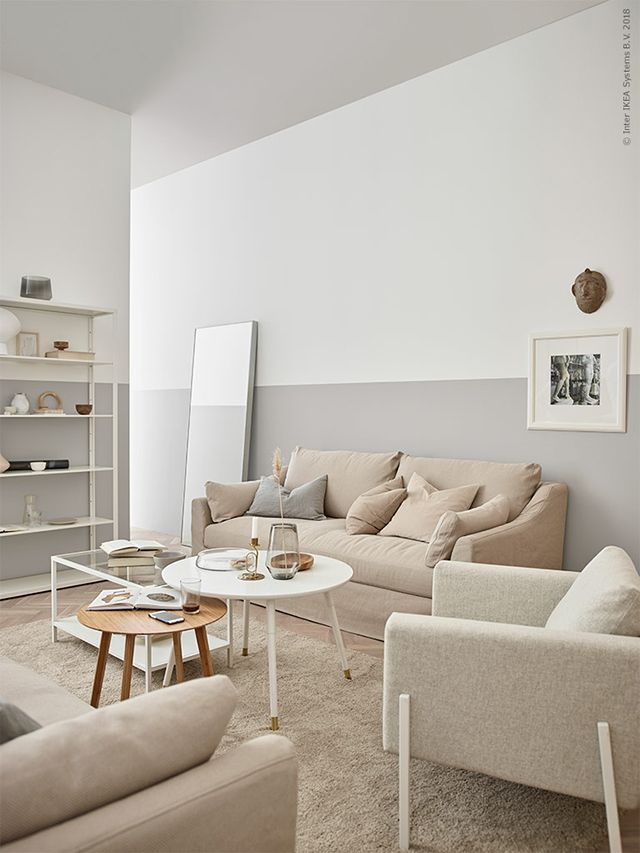 Ikea Living Rooms Soft Minimalism And A Pink Sofa Beige Living
