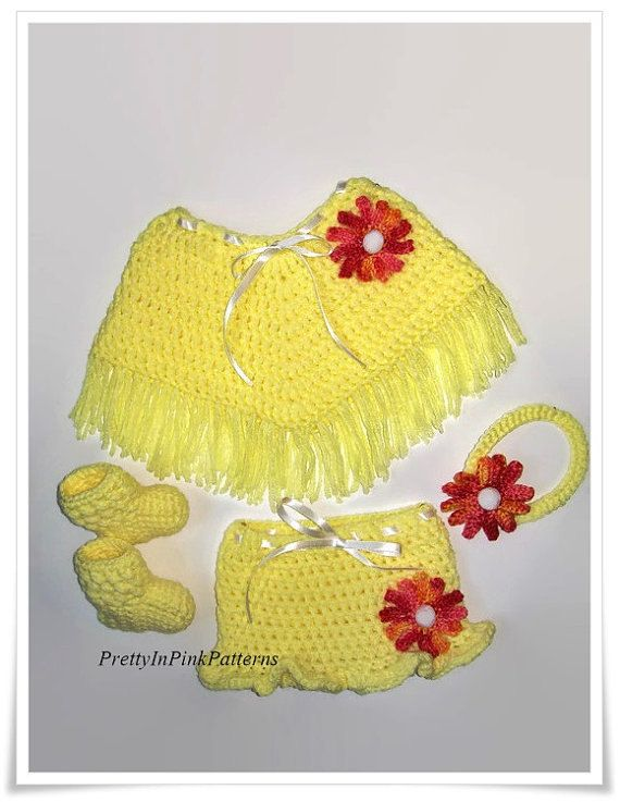 Patterns for Babies, Crochet baby poncho set, Poncho pattern, Baby ...