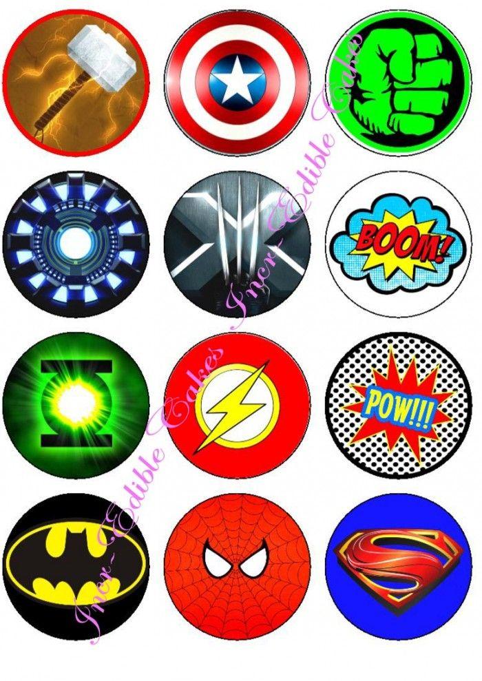Marvel Super Hero Logos And Symbols Cakepins Proyectos Que