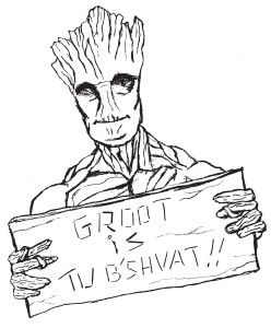 Tu B'Shevat with Groot! Free coloring page from Ann